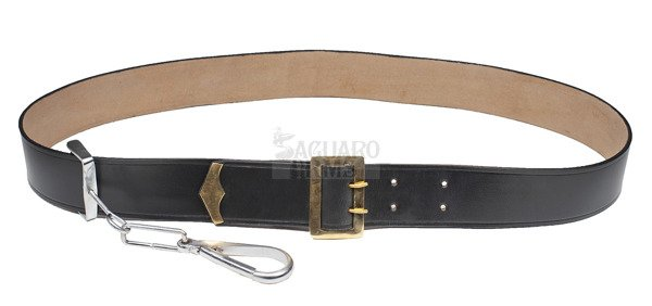 Sling With Brass buckle and tip. black