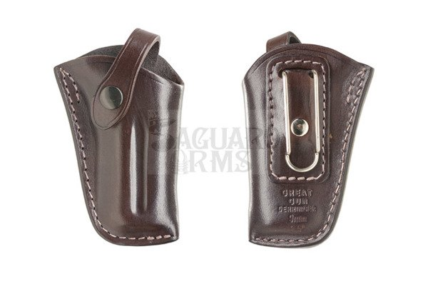 "Leather Holster Derringer 2,5"" Great Gun 9mm clip"