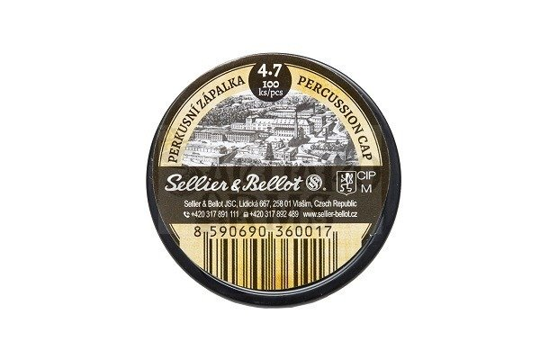 Percussion caps Sellier&Bellot 4,7