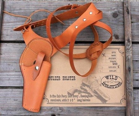 Shoulder Holster right,brown 3,5""