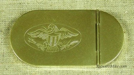Tabacco box with Eagle - brass