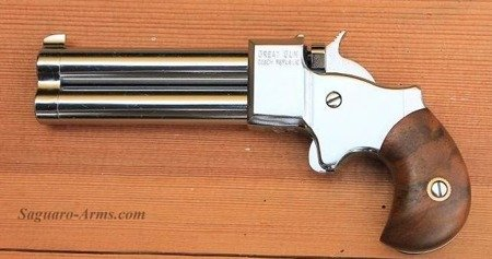 Pistolet czarnoprochowy Derringer 9mm 3,0 chrom Great Gun